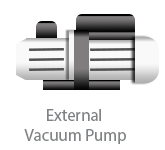 features__external vacuum pump